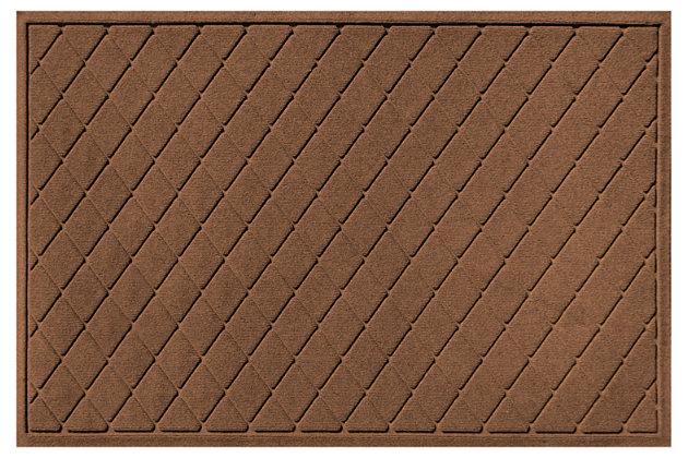 Home Accents Aqua Shield 3' x 5' Argyle Estate Mat, Brown, large