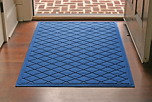Home Accents Aqua Shield 3' x 5' Argyle Estate Mat, Blue, rollover