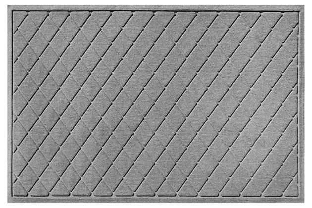 Home Accents Aqua Shield 3' x 5' Argyle Estate Mat, Gray, large