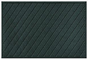 Home Accents Aqua Shield 3' x 5' Argyle Estate Mat, Green, large
