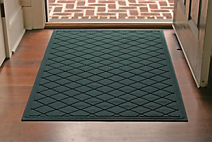 Home Accents Aqua Shield 3' x 5' Argyle Estate Mat, Green, rollover