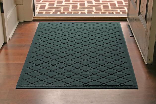 Home Accents Aqua Shield 3' x 5' Argyle Estate Mat, Green, large