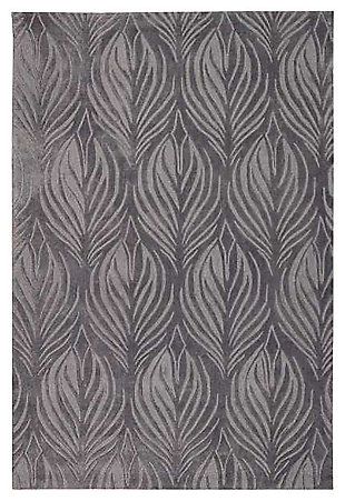 "Home Accents Contour Feather 5' x 7'6"" Area Rug, Gray, large"