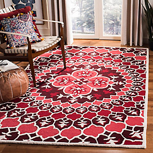 Safavieh Bellagio 5' X 8' Area Rug, Red/Ivory, rollover