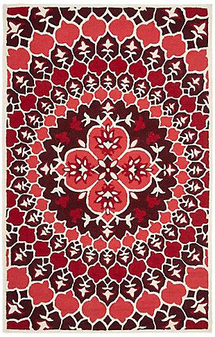 Safavieh Bellagio 5' X 8' Area Rug, Red/Ivory, large