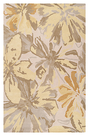 Home Accents Athena Floral 5' x 8' Area Rug, , large