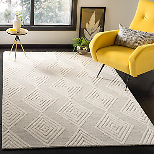 Safavieh Blossom 5' X 8' Area Rug, Silver/Ivory, rollover