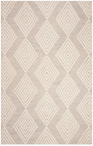 Safavieh Blossom 5' X 8' Area Rug, Silver/Ivory, large