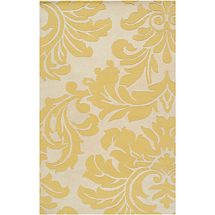 Home Accents Athena Paisley 4' x 6' Area Rug, Yellow, rollover