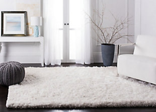 Atlantic Shag 5' x 8' Area Rug, White, rollover