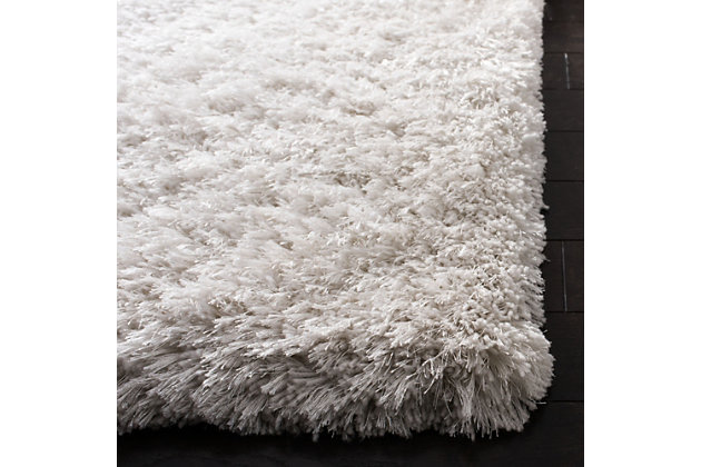 Atlantic Shag 5' x 8' Area Rug, White, large