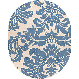 Home Accents Athena Paisley 8' x 10' Oval Area Rug, , rollover