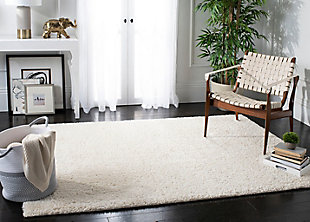 "August Shag 5'3"" x 7'6"" Area Rug, White, rollover"