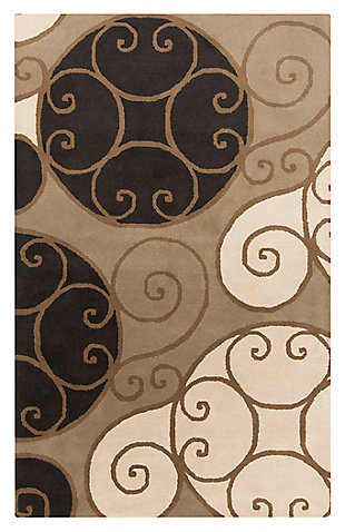 Home Accents Athena Swirl 4' x 6' Area Rug, , large