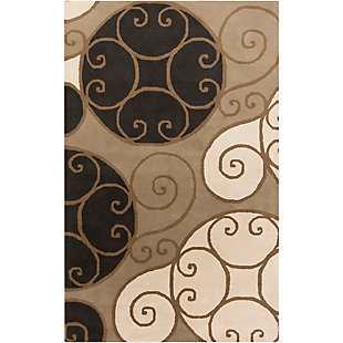 Home Accents Athena Swirl 4' x 6' Area Rug, , rollover