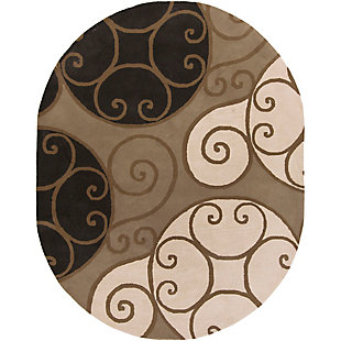 Home Accents Athena Swirl 8' x 10' Oval Area Rug, , rollover