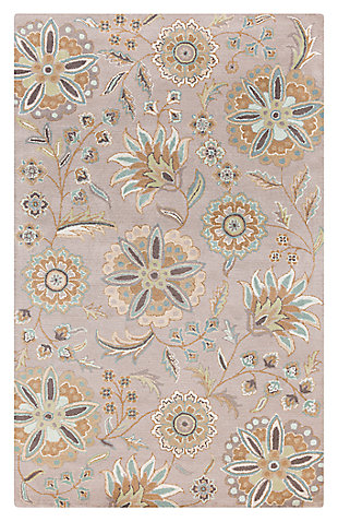 Home Accents Athena Flower 5' x 8' Area Rug, , large