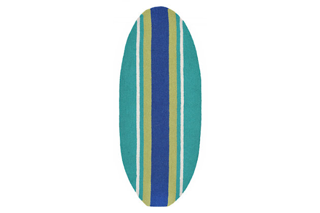 """Home Accents Deckside 1'6"""" x 3'7"""" Bold Stripe Indoor/Outdoor Rug, , large"""