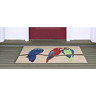Home Accents Deckside 2' x 3' Aves Indoor/Outdoor Doormat, , rollover