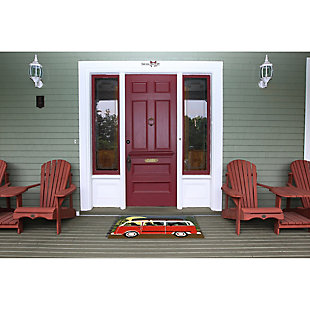 Home Accents Deckside 2' x 3' Ged Pups Indoor/Outdoor Doormat, , rollover