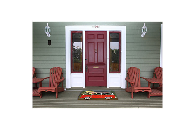 Home Accents Deckside 2' x 3' Ged Pups Indoor/Outdoor Doormat, , large