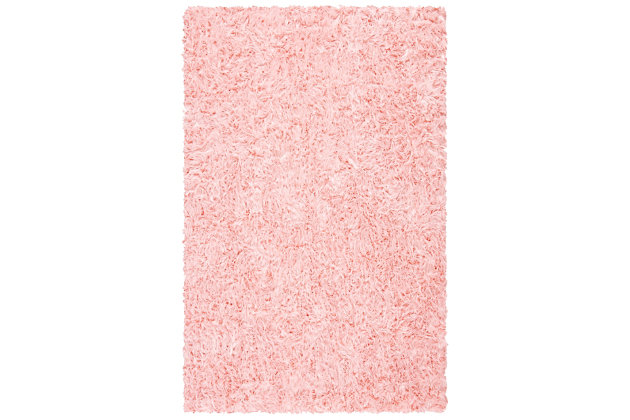 Faux Sheep Skin 5' x 7' Area Rug, Red/Burgundy, large