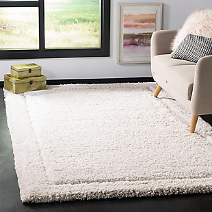 Glamour Shag 5' x 8' Area Rug, White, rollover