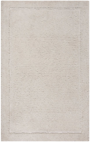 Glamour Shag 5' x 8' Area Rug, White, large