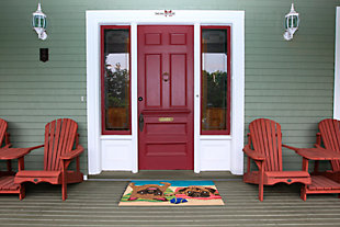 Home Accents Deckside 2' x 3' Fawn Pups Indoor/Outdoor Doormat, , large