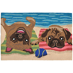 Home Accents Deckside 2' x 3' Fawn Pups Indoor/Outdoor Doormat, , rollover