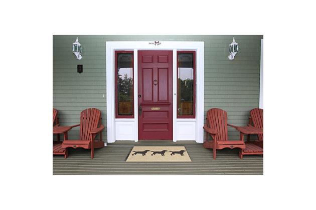 Home Accents Deckside 2' x 3' Furry Companions Indoor/Outdoor Doormat, , large