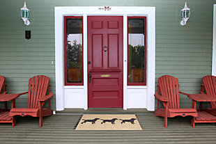 Home Accents Deckside 2' x 3' Furry Companions Indoor/Outdoor Doormat, , large