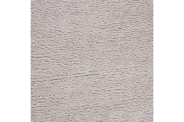 """Madrid Shag 6'7"""" x 6'7"""" Round Area Rug, Black/Gray, large"""