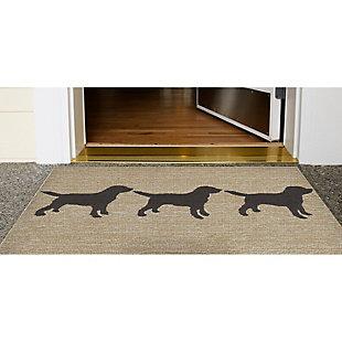 Home Accents Deckside 2' x 3' Furry Companions Indoor/Outdoor Doormat, , rollover