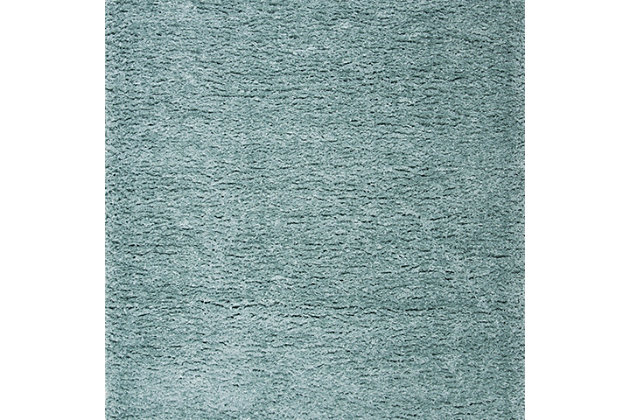 Madrid Shag 4' x 6' Runner Rug, Blue, large