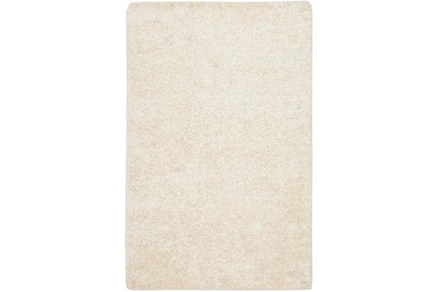 Madrid Shag 5' x 8' Area Rug, White, large