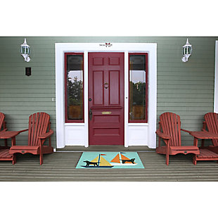 Home Accents Deckside 2' x 3' Marine Pup Indoor/Outdoor Doormat, , rollover