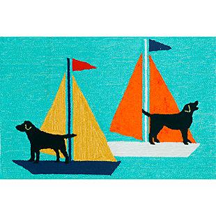 Home Accents Deckside 2' x 3' Marine Pup Indoor/Outdoor Doormat, , rollover