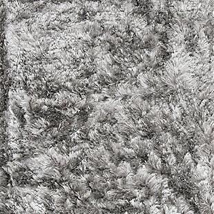 """Ocean Shag 2'6"""" x 8' Runner Rug, Black/Gray, large"""