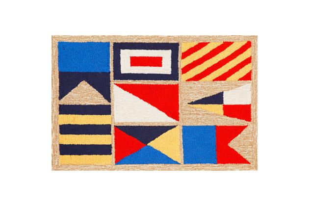 Home Accents Deckside Nautical flags Indoor/Outdoor Doorm...