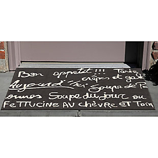 Home Accents Deckside 2' x 3' Parisian Tavern Indoor/Outdoor Doormat, , rollover