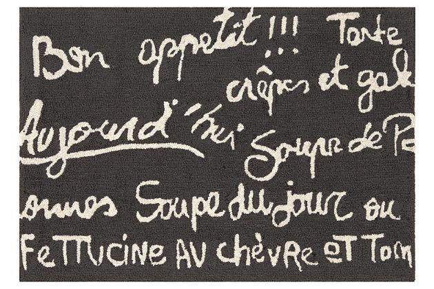 Home Accents Deckside 2' x 3' Parisian Tavern Indoor/Outdoor Doormat, , large