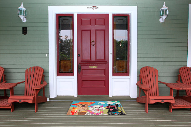 Home Accents Deckside 2' x 3' Pink Ladies Indoor/Outdoor Doormat, , large