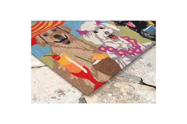 Home Accents Deckside 2' x 3' Pink Ladies Indoor/Outdoor Doormat, , large