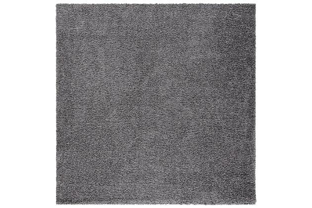"Safavieh Primo Shag 6'7"" x 6'7"" Round Area Rug, Gray, large"