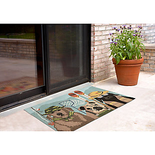 Home Accents Deckside 2' x 3' Popper Pups Indoor/Outdoor Doormat, , rollover