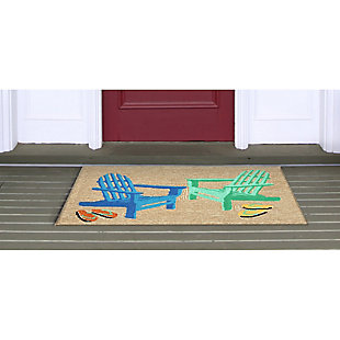 Home Accents Deckside 2' x 3' Rustic Indoor/Outdoor Doormat, , rollover