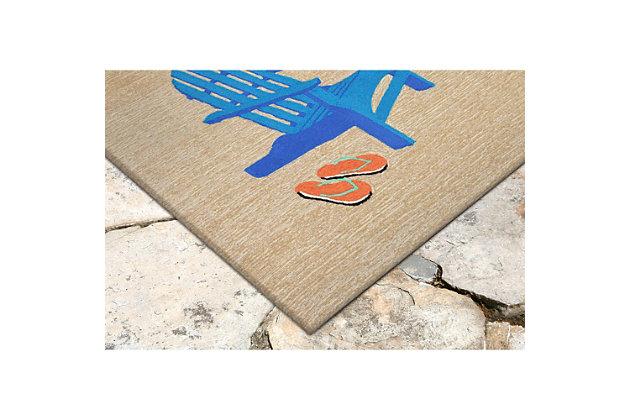 Home Accents Deckside 2' x 3' Rustic Indoor/Outdoor Doormat, , large