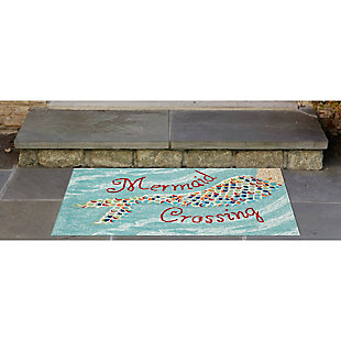 Home Accents Deckside 2' x 3' Sea Maiden Indoor/Outdoor Doormat, , rollover