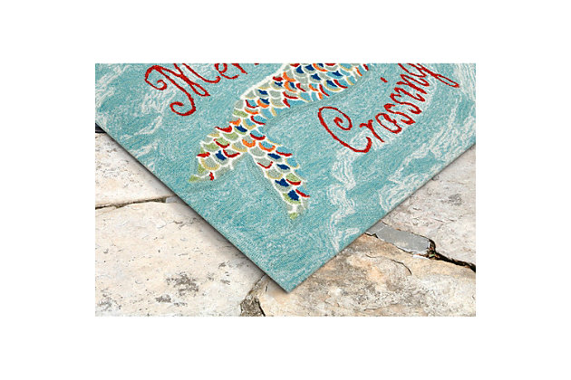 Home Accents Deckside 2' x 3' Sea Maiden Indoor/Outdoor Doormat, , large